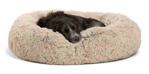 Best Friends by Sheri Luxury Shag Fuax Fur Donut Cuddler Donut Cat and Dog Bed Photo
