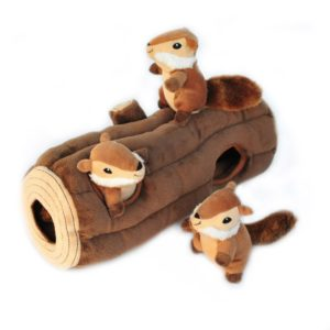 ZippyPaws Woodland Friends Burrow, Interactive Squeaky Hide and Seek Plush Dog Toy Photo